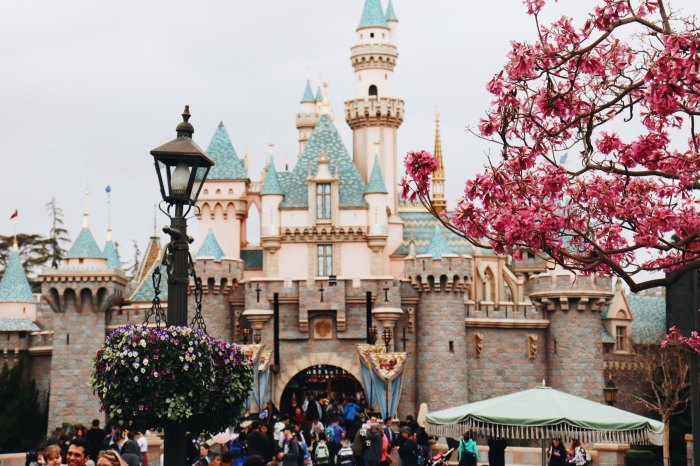 Foto do Castelo da Bela Adormecida, na Disneyland, Califórnia. Photo by Skylar Sahakian on Unsplash